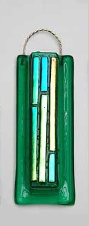Dichroic Fused Glass Bamboo Vase