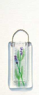 Fused Glass Lavender Vase