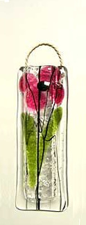Fused Glass Flower Vase