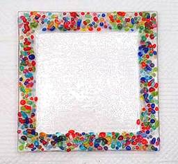 confetti fused glass plate