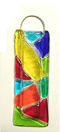 Fused Glass Mosaic Vase