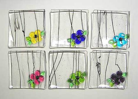 Latta's Fused Glass Jewelry Plates (wildflower)