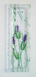 lavender fused glass sushi plate